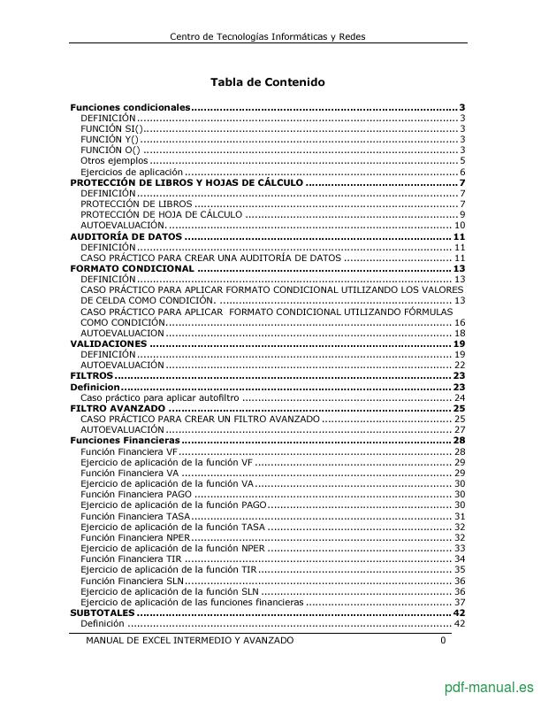 Curso Microsoft Excel intermedio y avanzado 2