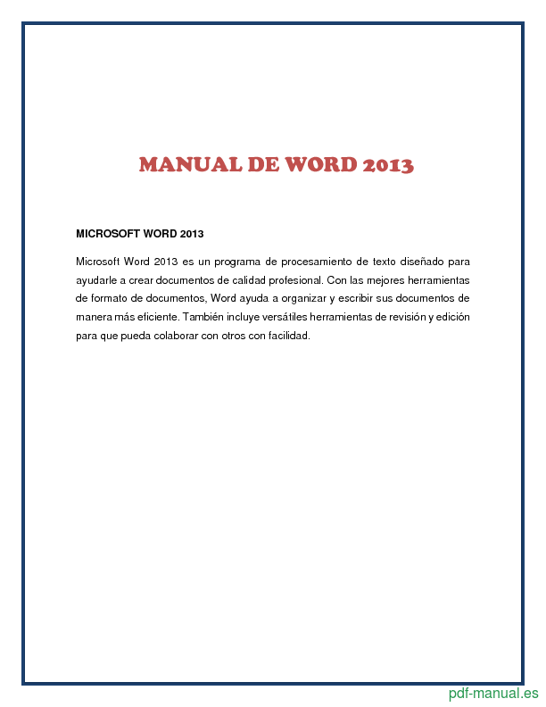 Pdf manual de word 2013 gratis curso for Manual de viveros forestales pdf