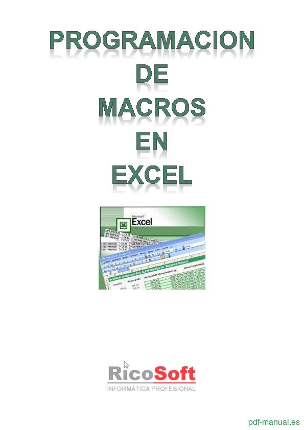 Curso Programación de Macros en Excel 1