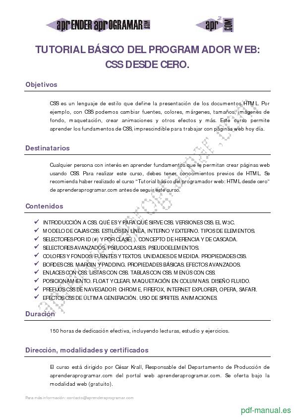 PDF] CSS desde cero gratis curso