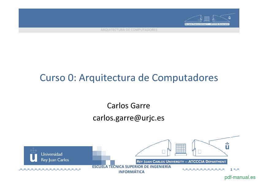 Curso Arquitectura de Computadores 1