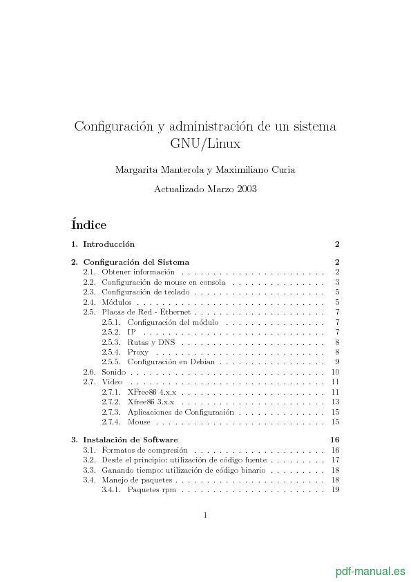 Curso Configuración y administración de un sistema GNU/Linux 1