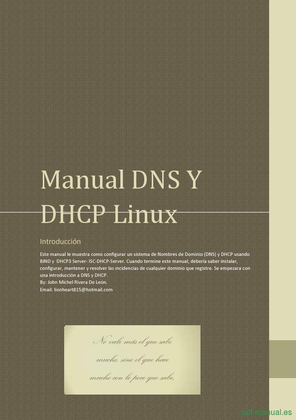 Curso Manual introducción a DNS y DHCP Linux 1