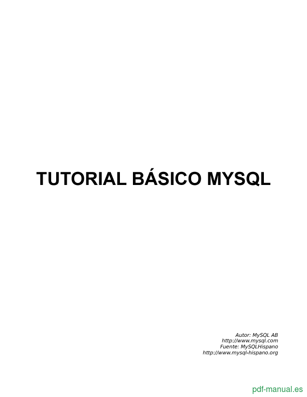 Curso Tutorial básico MySQL 1