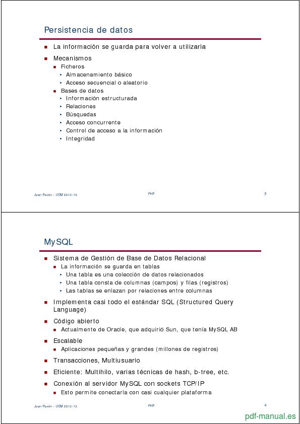 Curso PHP y MySQL 2