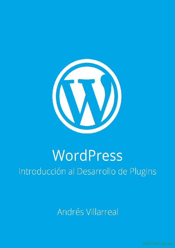 PDF] WordPress - Introducción al Desarrollo de Plugins gratis curso