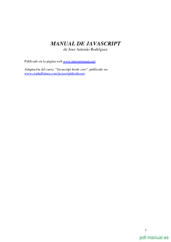 Pdf] manual de javascript gratis curso.