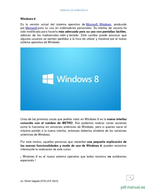 Curso Manual de Windows 8 2