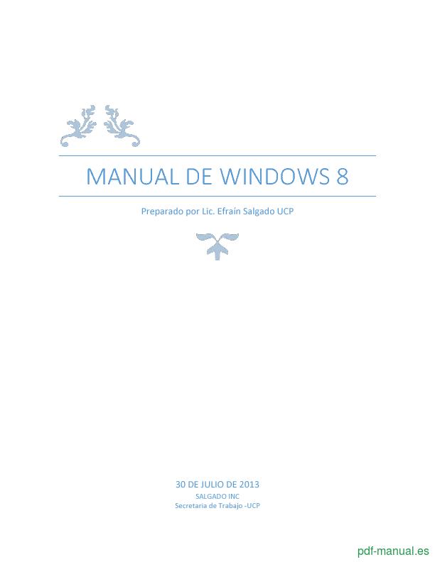 Curso Manual de Windows 8 1