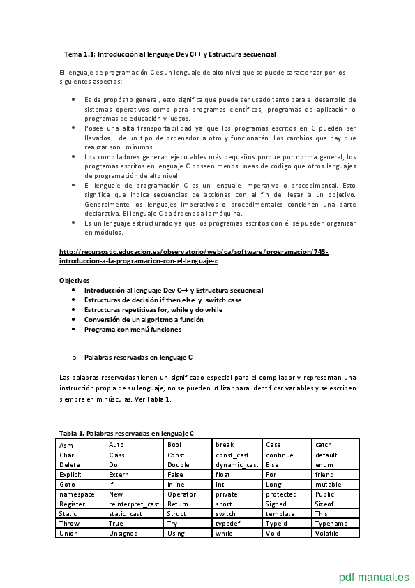 Curso Lenguaje de programación Dev C++ 2