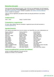 Curso Primeros pasos con LibreOffice 2