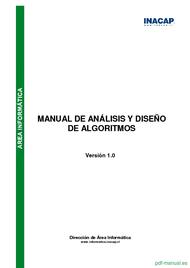 Curso Manual de análisis y diseño de algoritmos 1