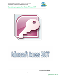 Curso Utilizar Microsoft Access 2007 1