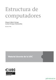 Curso Estructura de computadores 1