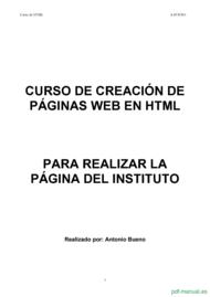 Curso Creación de páginas web en html  1