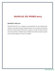 Curso Manual de Word 2013 1