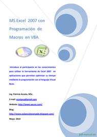 Curso Excel con Programación de Macros en VBA 1