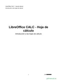 Curso Libreoffice calc - hoja de cálculo 1