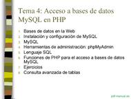 Curso PHP y MySQL - Acceso a bases de datos 2