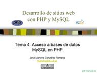Curso PHP y MySQL - Acceso a bases de datos 1