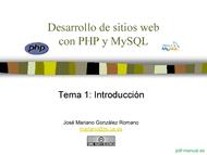 Curso Desarrollo de sitios web con PHP y MySQL 1
