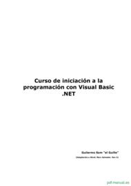 Curso iniciación a la programación con Visual Basic .NET 1