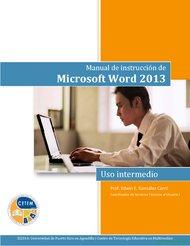 Curso Manual de instrucción de Microsoft Word 2013:  intermedio 1
