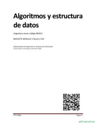 Curso Algoritmos y estructura de datos 1