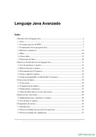 Curso Lenguaje Java Avanzado 1