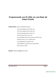 Curso Programando con PL/SQL en una Base de  Datos Oracle 1