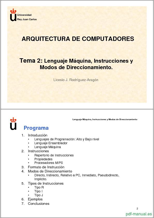 Curso Lenguaje Máquina, Instrucciones 1