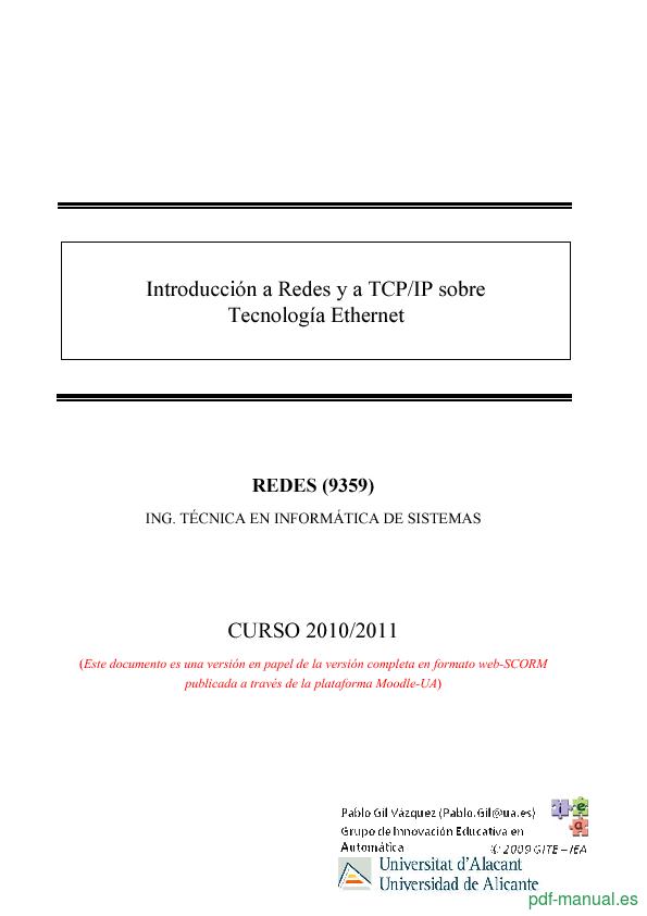Curso Introducción a Redes y a TCP/IP sobre Tecnología Ethernet 1