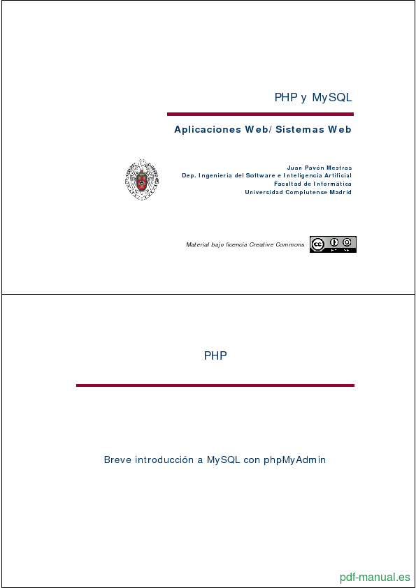 Curso PHP y MySQL 1
