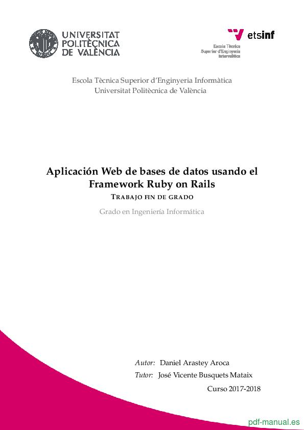 Curso Aplicación Web de bases de datos usando Ruby on Rails 1
